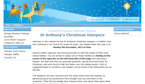 Visit the St Anthonys Christmas Hamper website